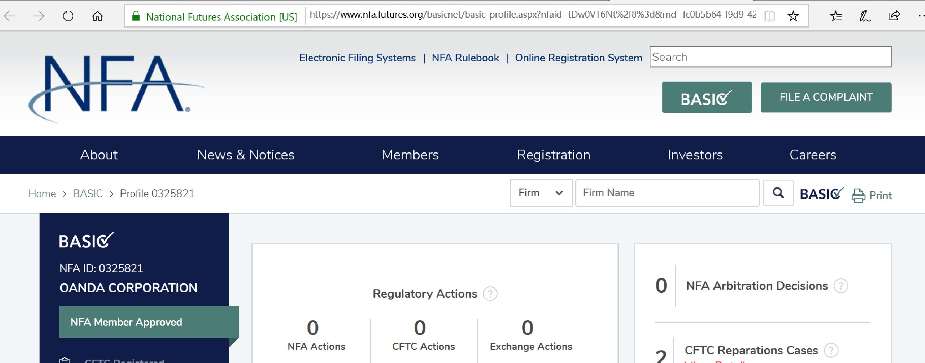 OANDA美國CFTC監管